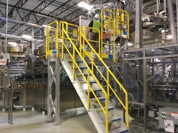 Nestle Waters Metal Stairs Installation