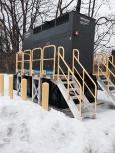 Outdoor Winter Metal Stairs for Maintenance