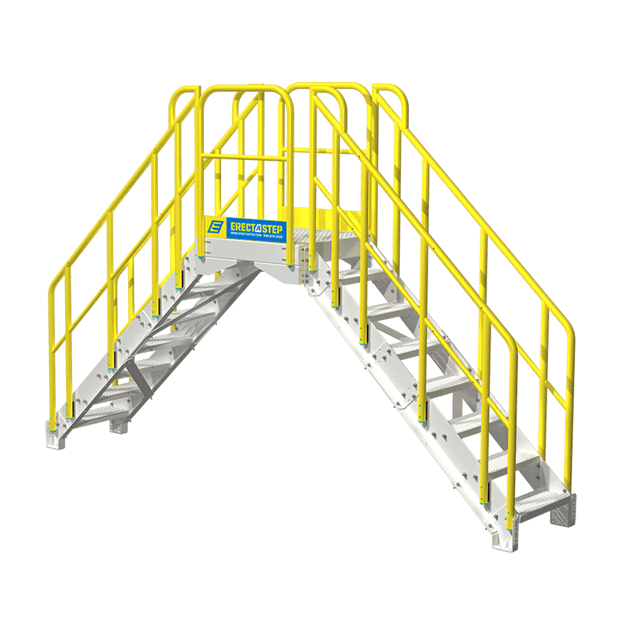 Industrial Stairs Powder Coated Aluminum Metal Stairs