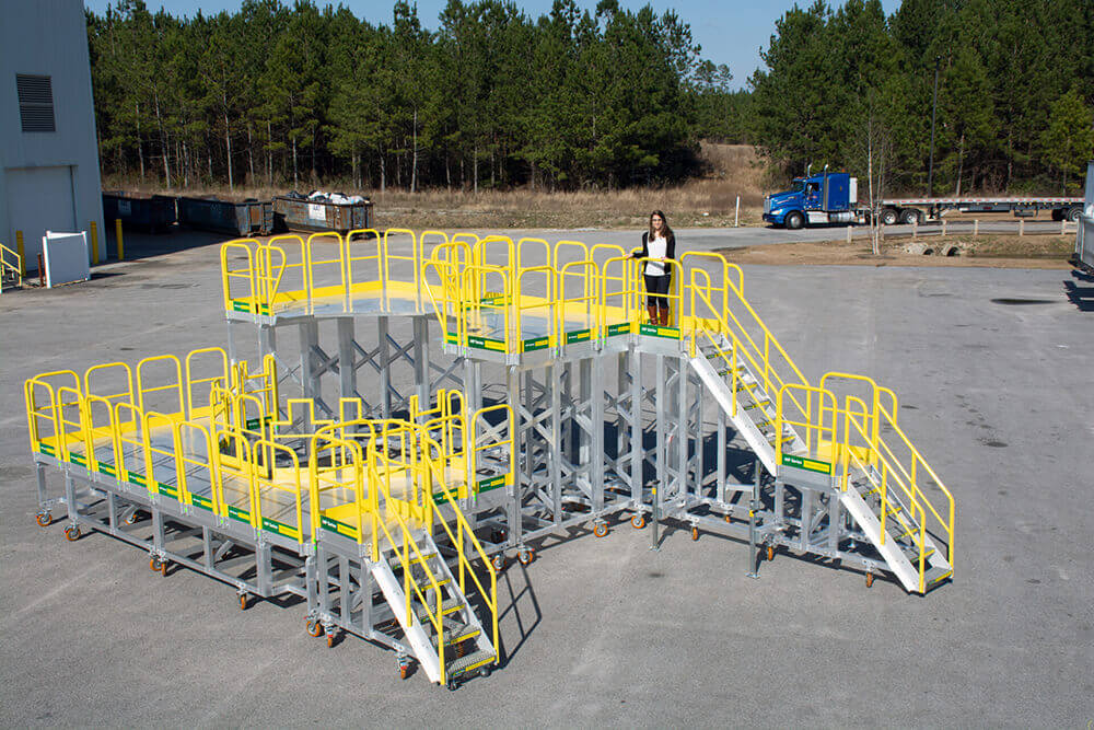 Customized Metal Stair Aviation Configuration