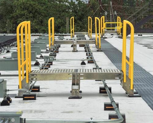Aluminum Platform for Maintenance Outdoors