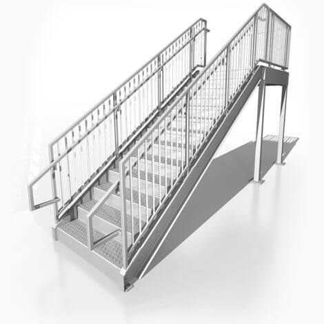 Prefabricated Commercial Stairs U2013 8ft