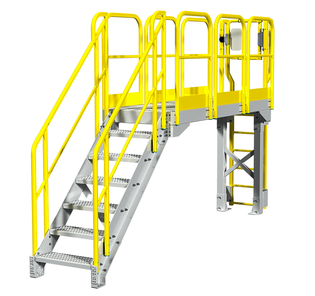 Industrial Metal Staircase Design: CatWalk Configuration-1