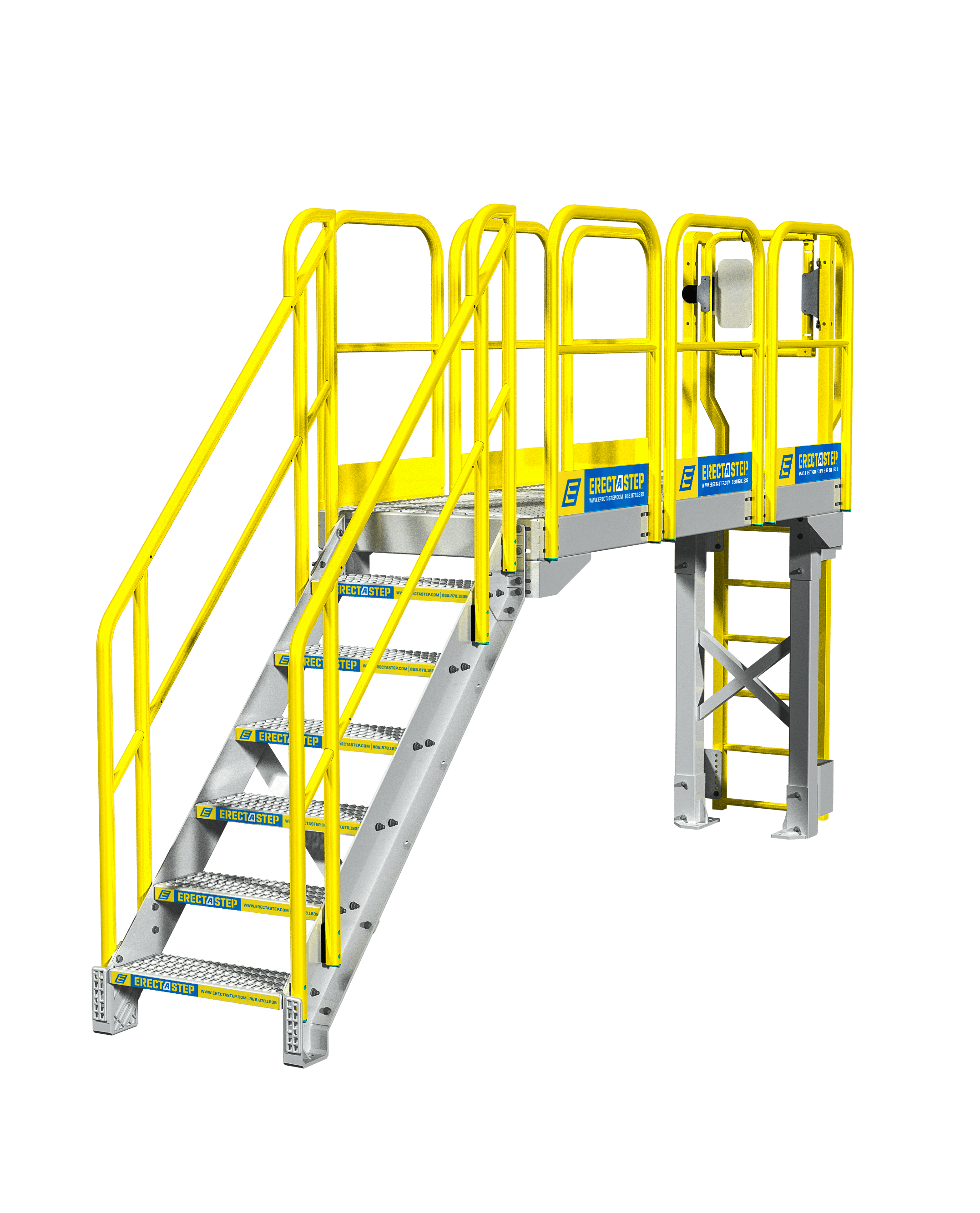 Industrial Catwalk Stair Configuration