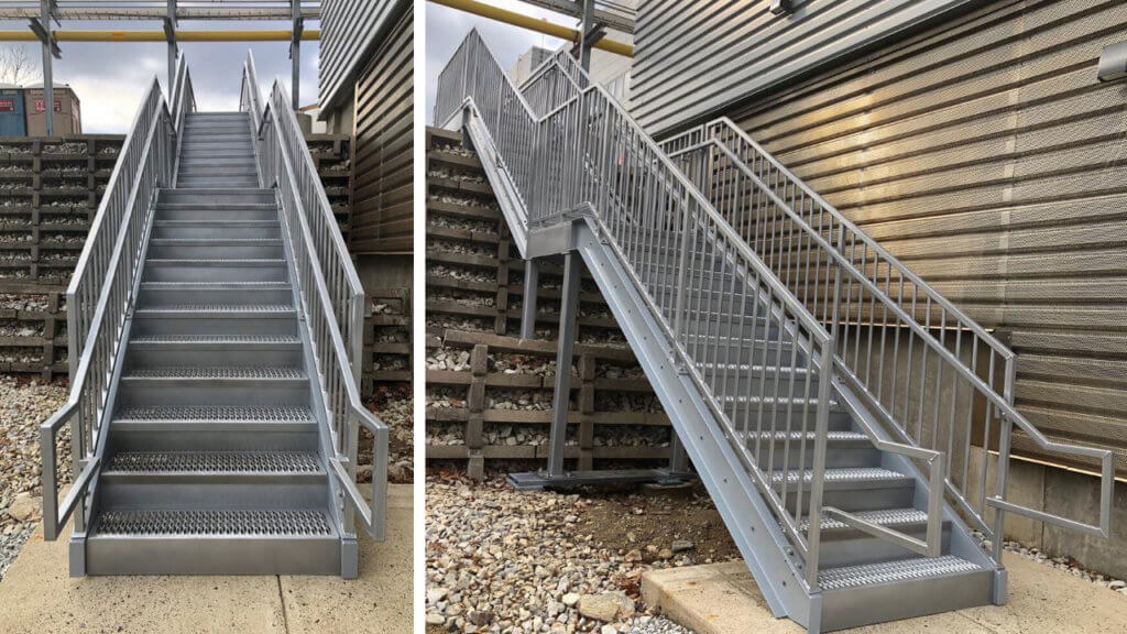 metal stairs in commercial use