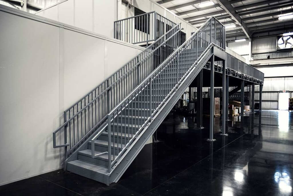 Commercial Staircase In Manufacturing Plant Erectastep
