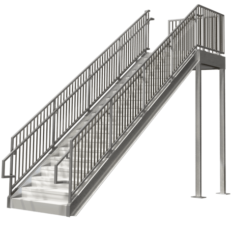Elegant Commercial Stairs