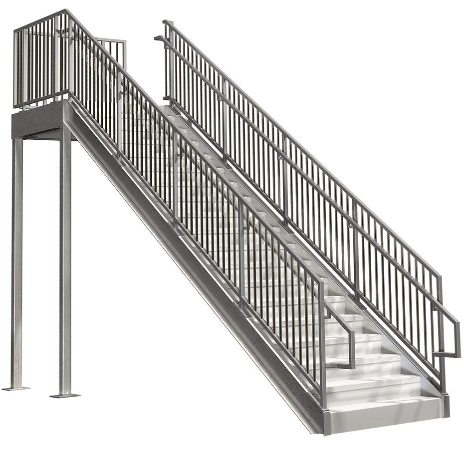 Ordinaire IBC Compliant Prefabricated Metal Stairs