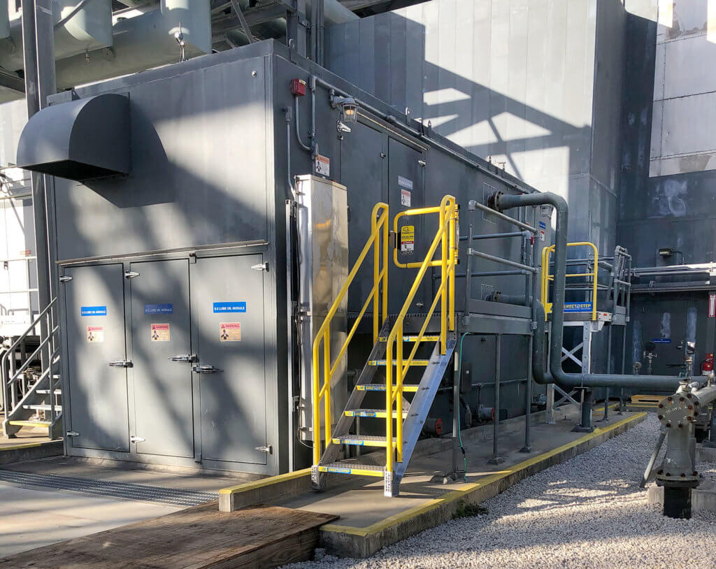 ErectaStep Stair Installation - Container Power Plant System