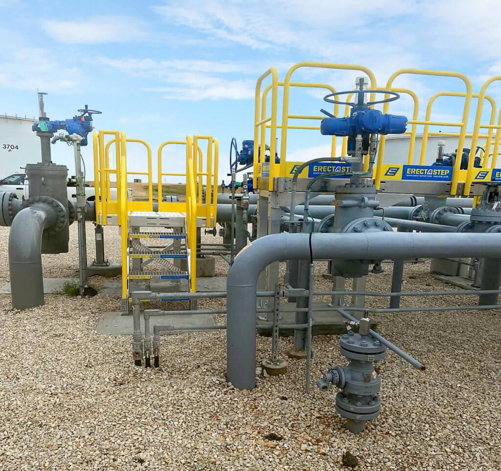 midstream facility access platform