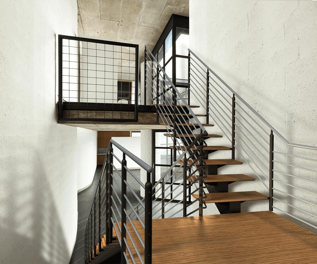 ErectaStep Architectural MonoStringer Stairs