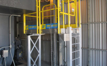 ErectaStep 7 Step Ladder and platform in industrial facility