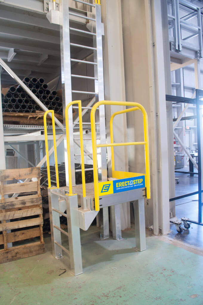 ErectaStep Andrews Plant steps to ladder with access platform and secondary ladder