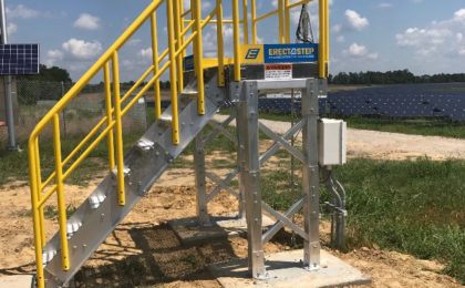 ErectaStep stairs with Platform Access Duke Energy Monroe NC