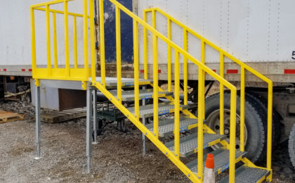 ErectaStep Construction Site OSHA Compliant Portable 7 step stairs with left access