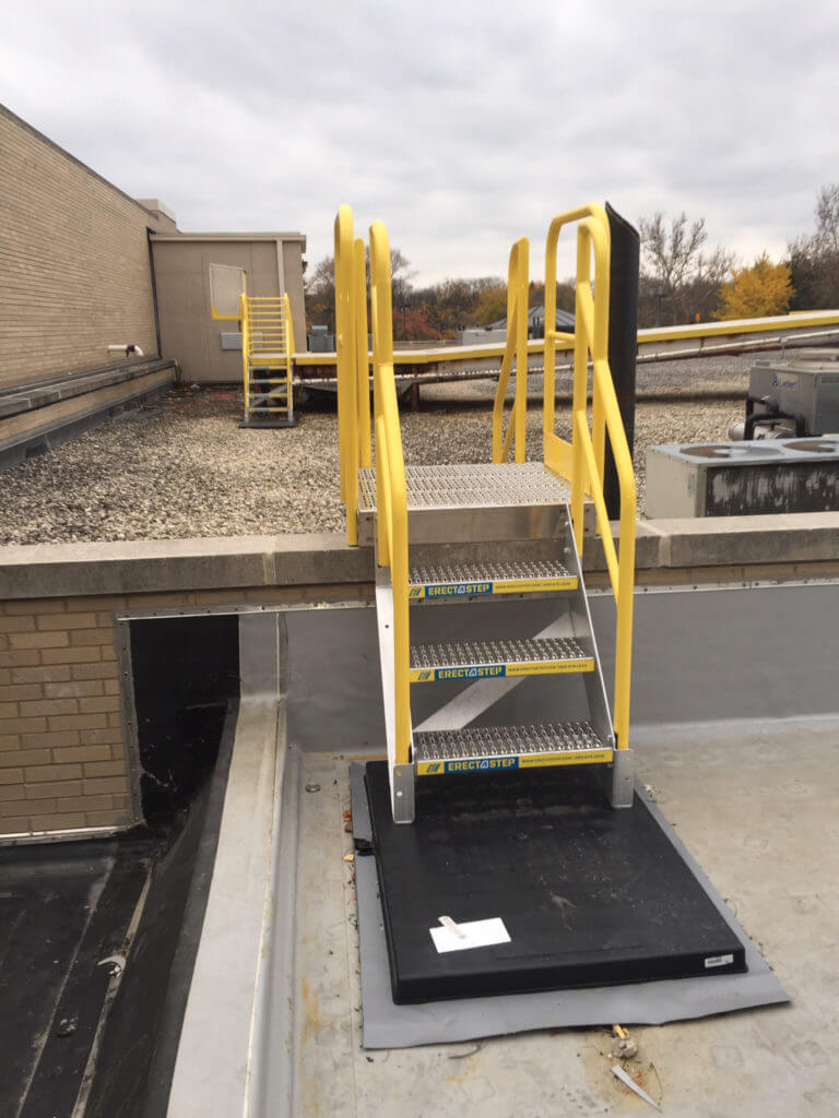 ErectaStep Rooftop 3-Step industrial crossover access stairs