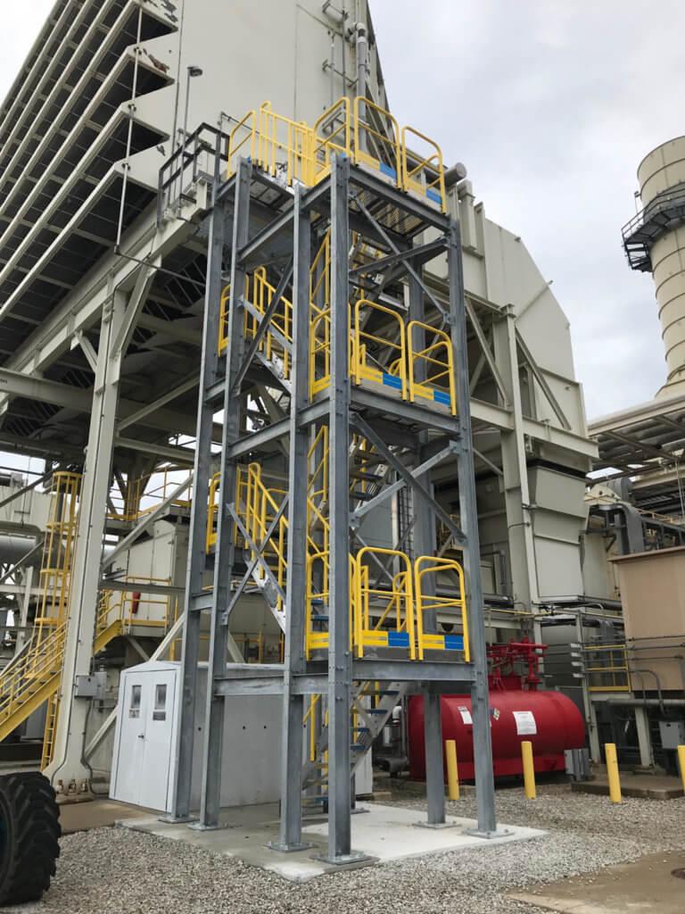 Multi Platform Metal Stairs