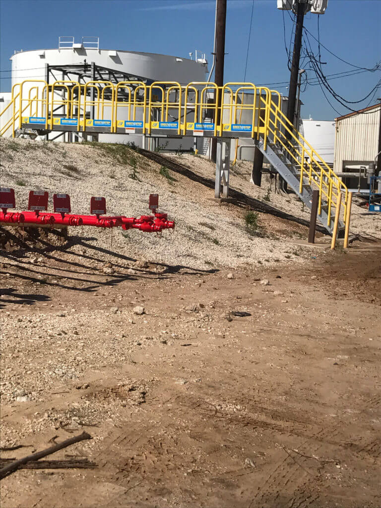 ErectaStep 7 Step Earth Berm Crossover stairs