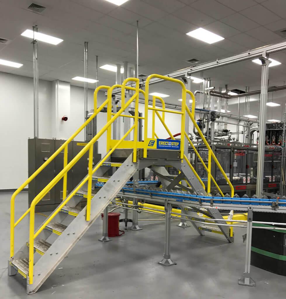 Crossover Platform for a production line