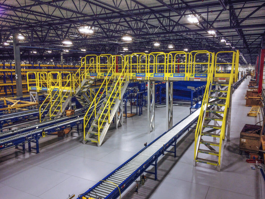 Erectastep Distribution Center Raised Walkway Service