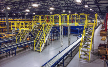 ErectaStep Distribution center raised walkway service platform
