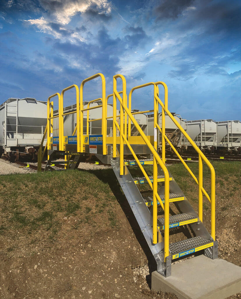 ErectaStep Railcar EarthBerm 5-Step Crossover Stairs