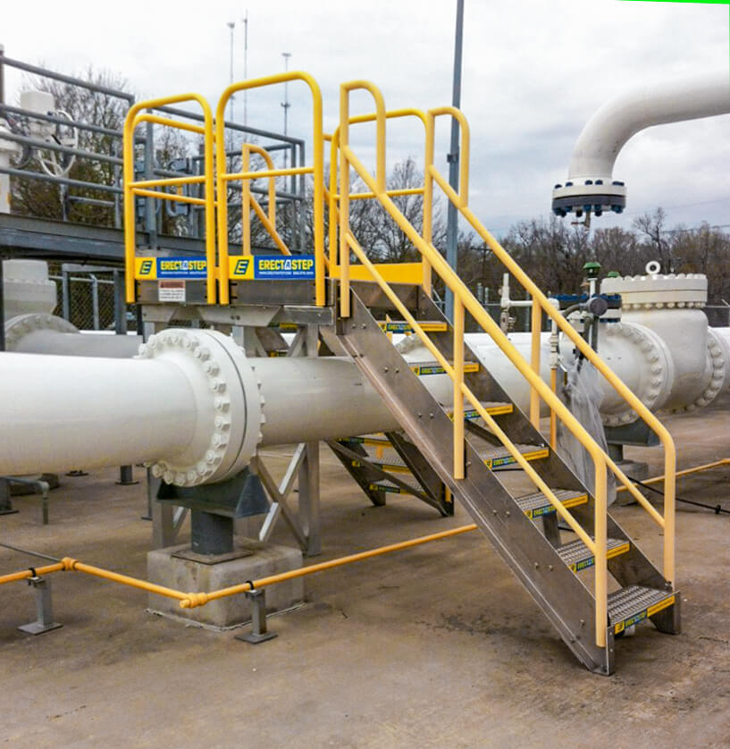 Erectastep 7-step crossover pipe outdoors
