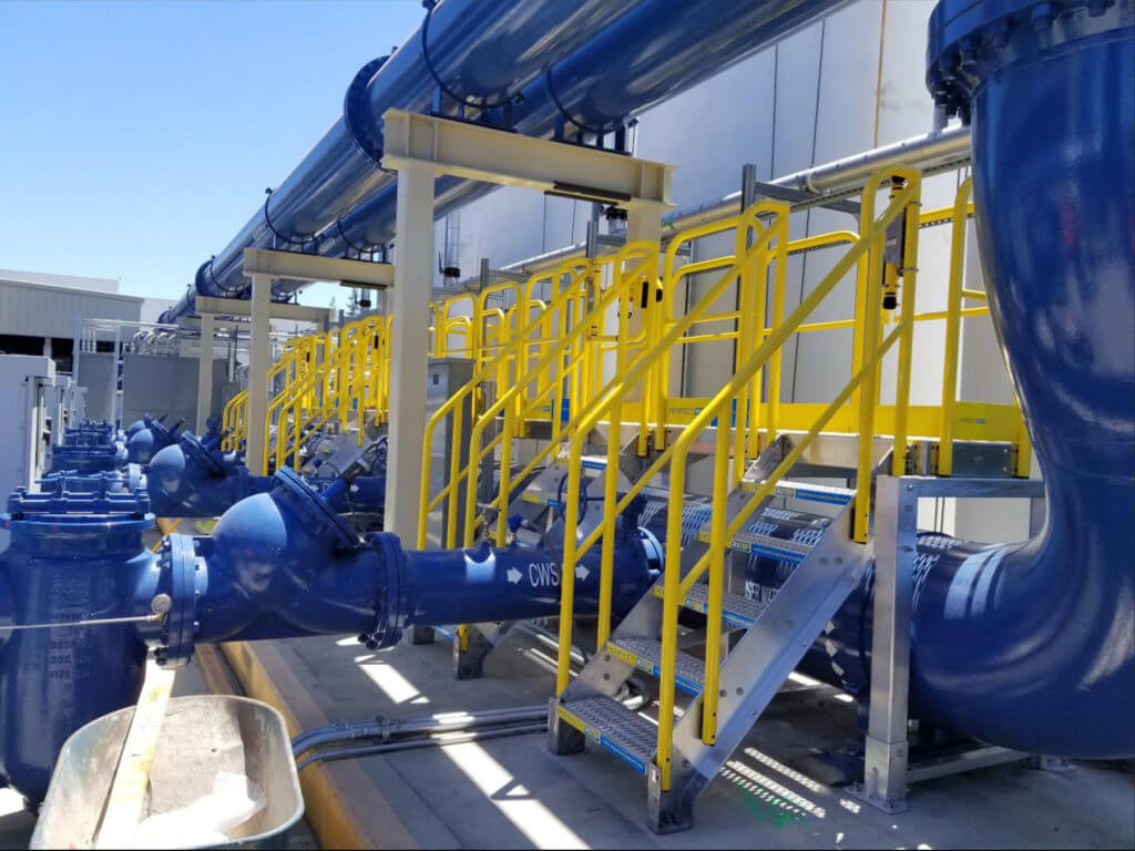 Erectastep TrueBeck Construction Chiller Plant 30ft Pipe Access