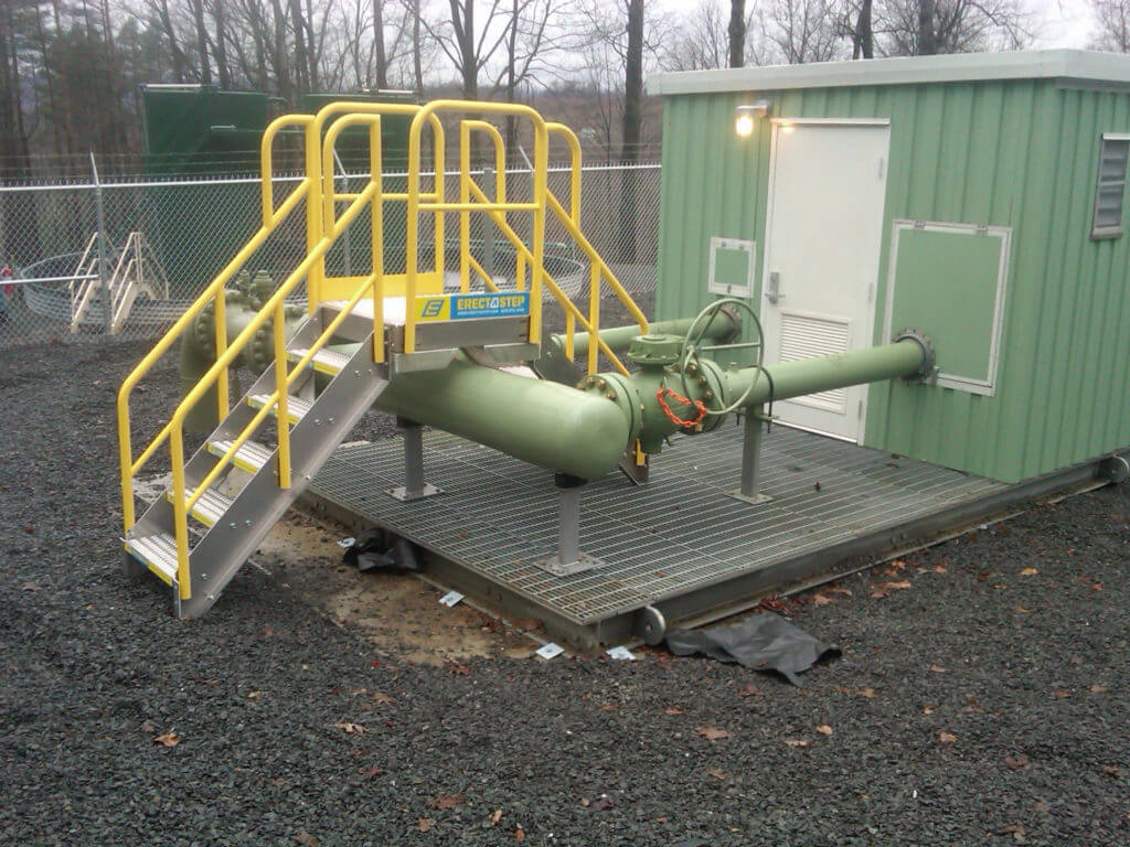 industrial crossover stairs for equipment access