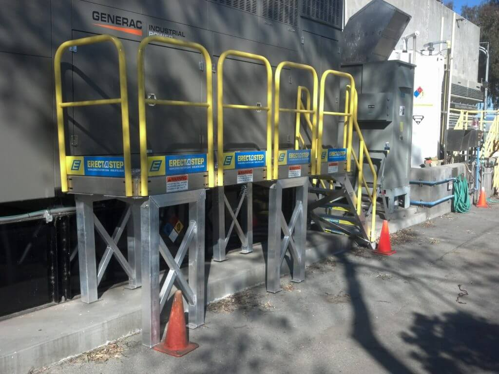 Erectastep generator industrial access stairs and platform