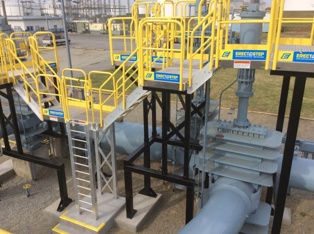 Erectastep multi level crossover access Colonial Pipe