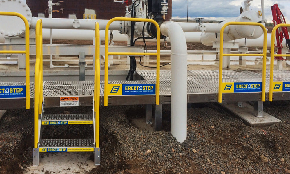 Erectastep pipe access platform Petrochem Colorado