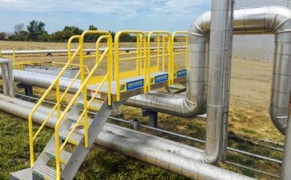 Erectastep NuStar TransferPipe industrial Crossover stairs