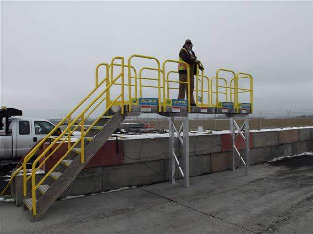 Industrial Catwalk Stairs Outdoors