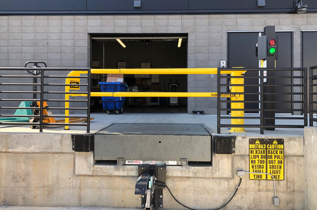 YellowGate XL Loading Dock Safety Gate Installed