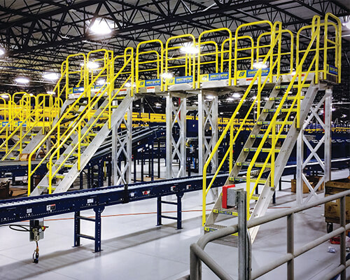 Crossover Stairs for Manufacturing