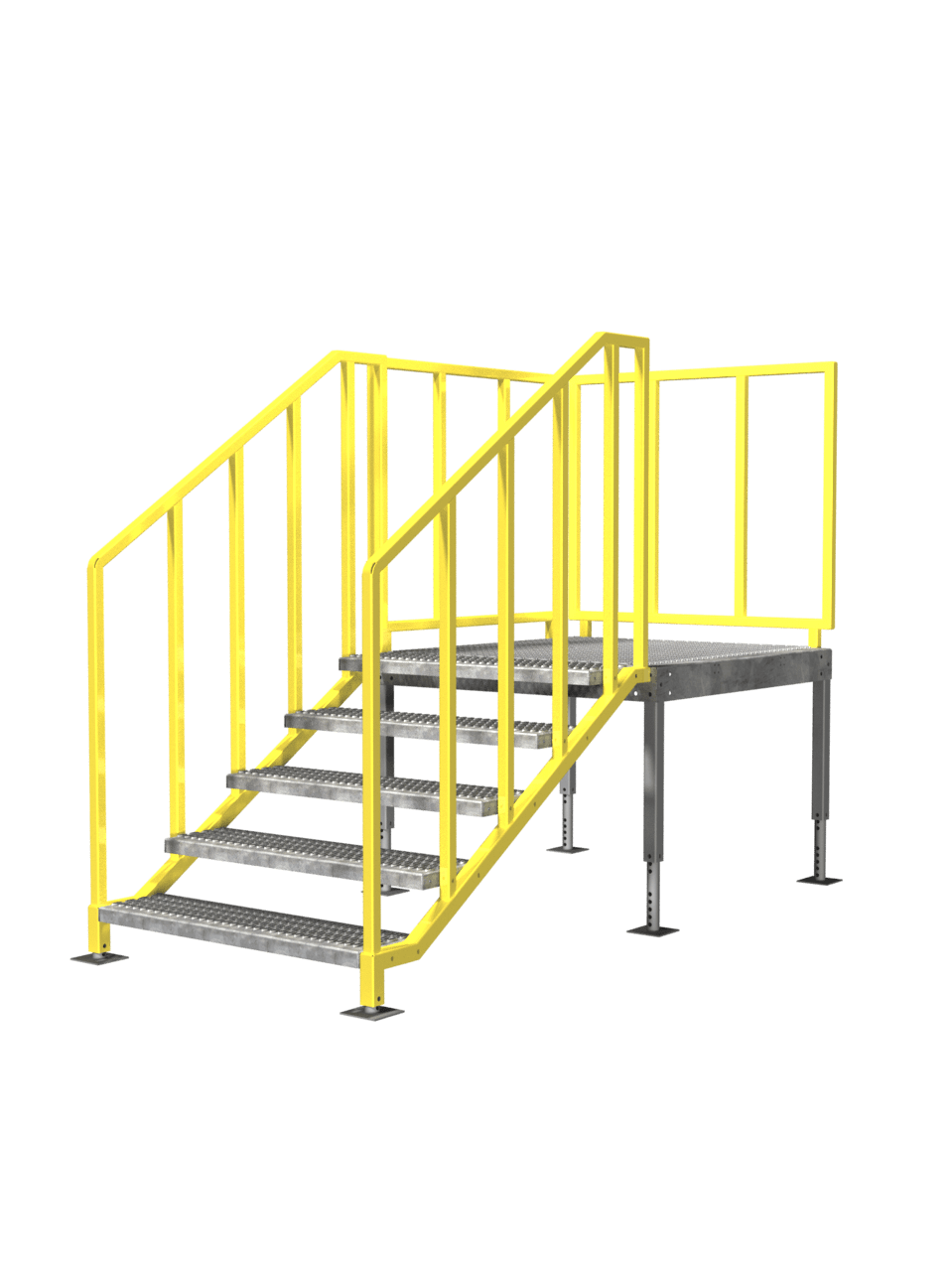 Portable Steel Steps : Portable stairs osha compliant non ibc erectastep