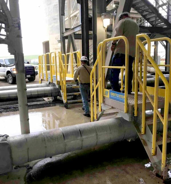 ErectaStep crossovers metal stairs installation