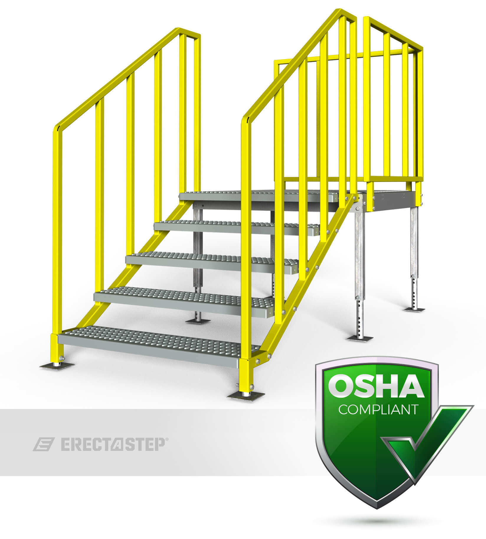 Portable Stairs With Handrail : Portable stairs left entry erectastep