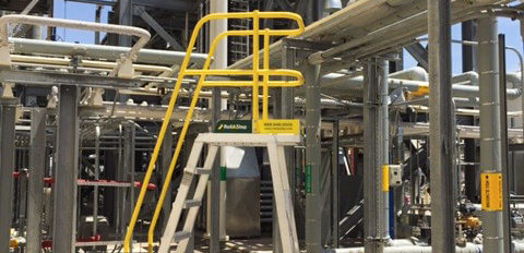 TR-Series rolling stairs for pipe maintenance access