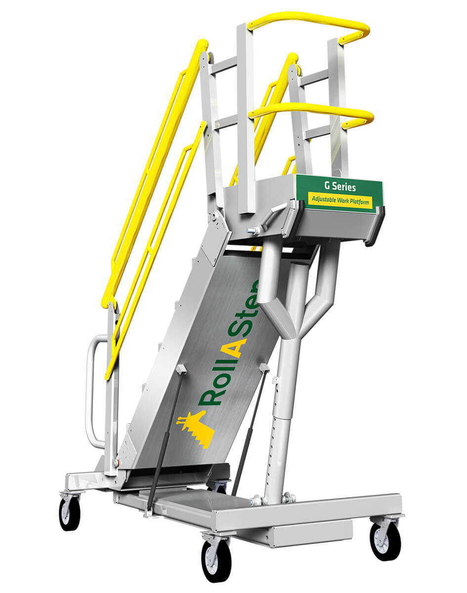 Self Leveling Stairs : G series mobile self leveling stairs and work platform