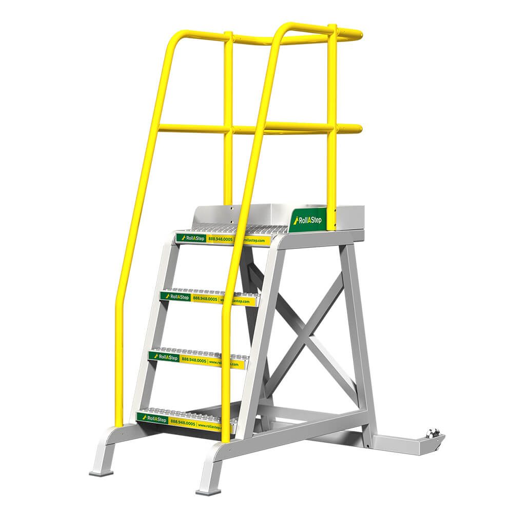 Tilt And Roll Work Platform And Rolling Stairs