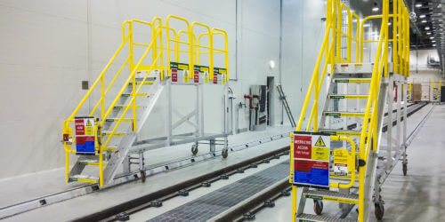 Two Mobile Rolling Stair Platforms for Dubai Tram