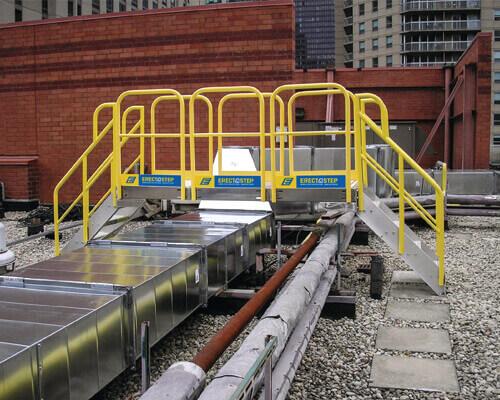 Rooftop Crossover Metal Stairs Platform
