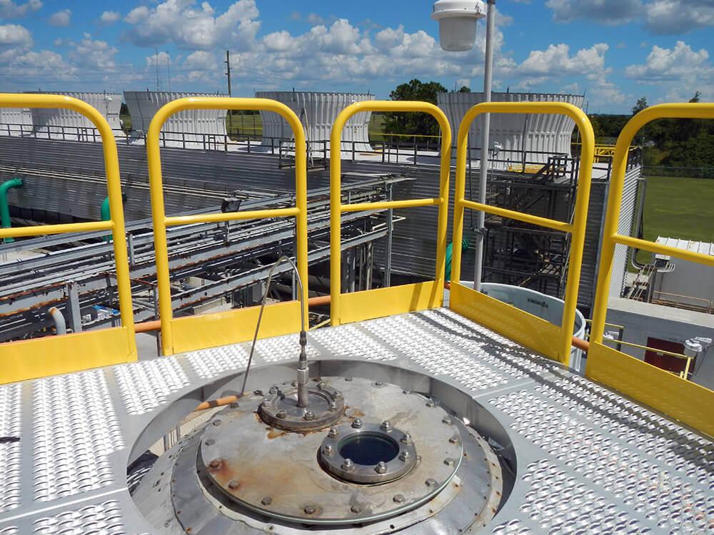 Custom Work Platform Radius CutOut for RailCar Loading