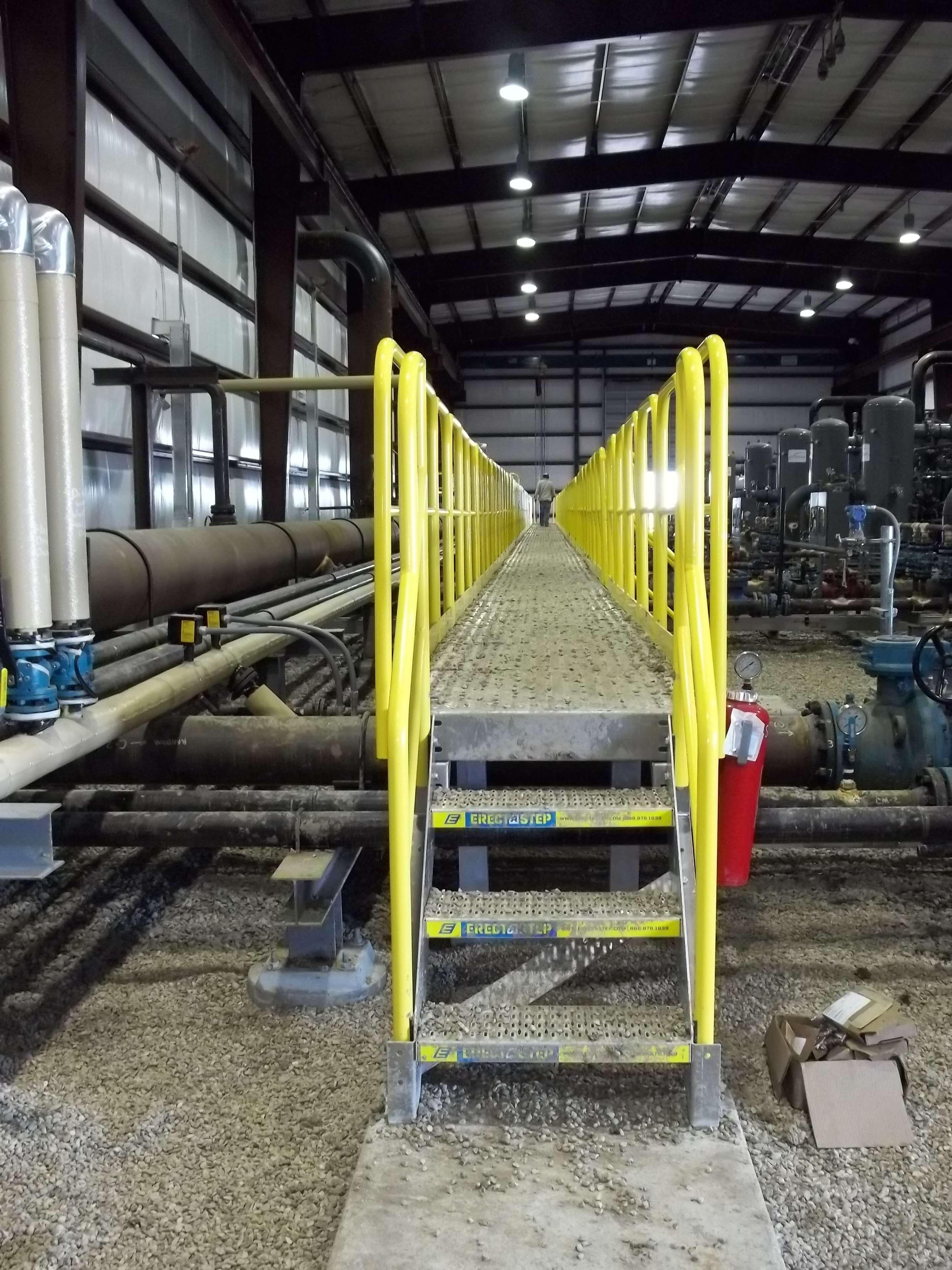 Aluminum Stairs Working Platform Erectastep