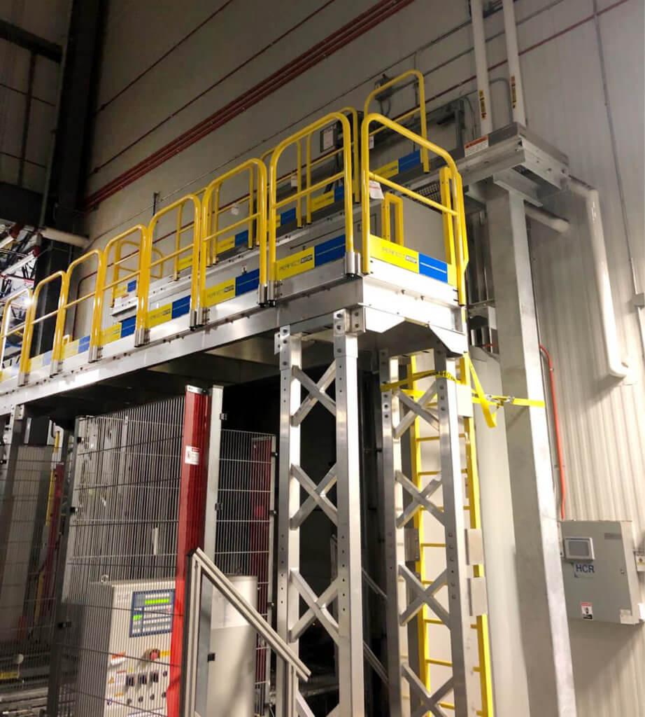 air curtain access platform