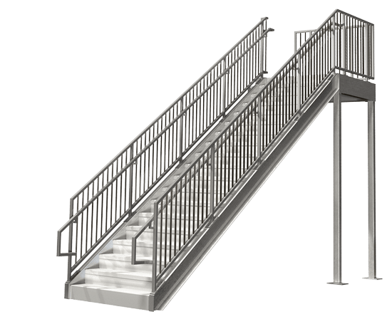 Commercial Mezzanine Metal Stairs
