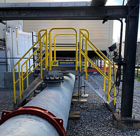 cooling tower access stairs