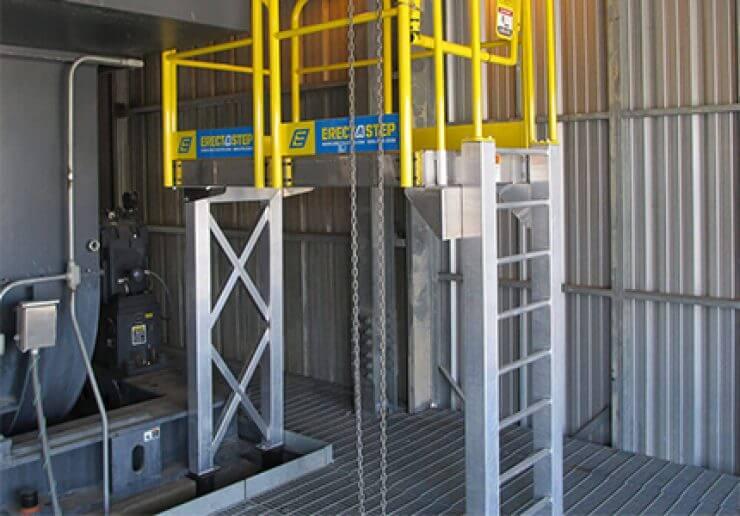 Indoor Metal Ladder Work Platform